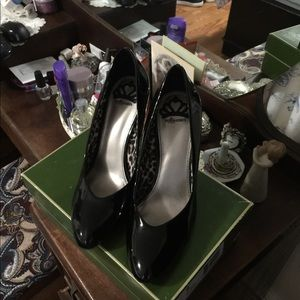 "Black Patent leather ""Fergie"" shoes"